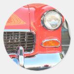 Pegatinas rojos del coche etiquetas redondas