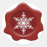 Pegatinas rojos del sello de la cera del copo de n etiquetas redondas