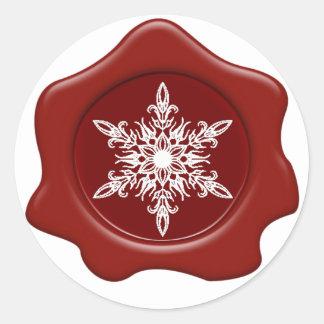 Pegatinas rojos del sello de la cera del copo de pegatina redonda