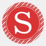 Pegatinas rojos del sello del sobre del navidad etiquetas redondas