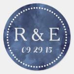 Pegatinas románticos del favor del boda de la pegatina redonda