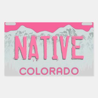 Pegatinas rosados artsy nativos de la placa de Col