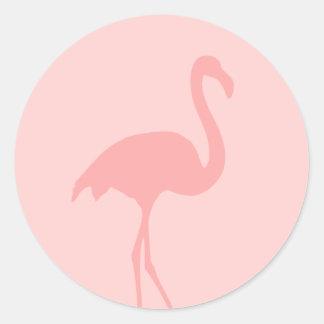 Pegatinas rosados coralinos del pájaro del pegatina redonda