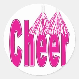 Pegatinas rosados de la alegría etiquetas redondas
