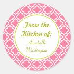 Pegatinas rosados de la cocina