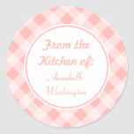 Pegatinas rosados de la cocina de la guinga