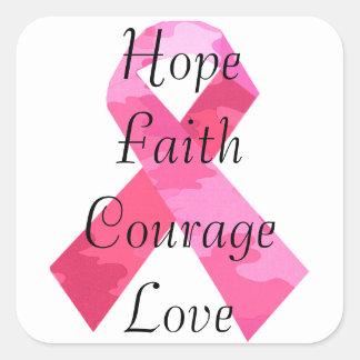 Pegatinas rosados de la fe de la cinta del calcomania cuadradas personalizadas