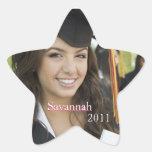 Pegatinas rosados de la foto de la graduación o de