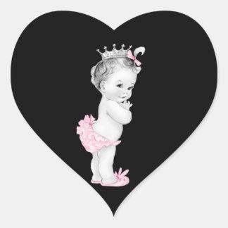 Pegatinas rosados de la princesa fiesta de bienven