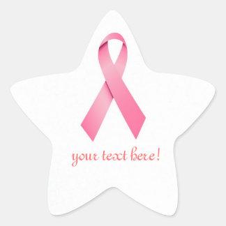 Pegatinas rosados de la recaudador de fondos de la pegatina en forma de estrella