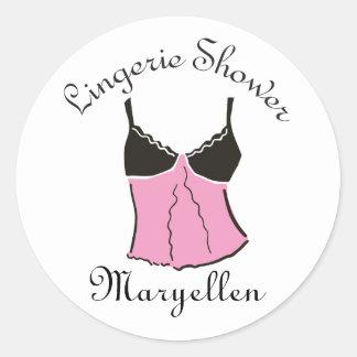 Pegatinas rosados de la ropa interior pegatina redonda