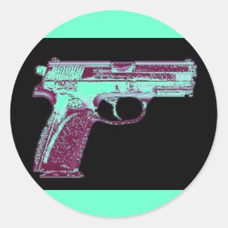 Pegatinas rosados del arma del MB