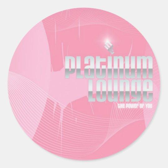 Pegatinas rosados del beso pegatina redonda