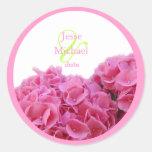 Pegatinas rosados del boda del Hydrangea, ajuste d