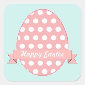 Pegatinas rosados del huevo de Pascua Pegatina Cuadrada