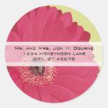Pegatinas rosados elegantes del boda de la margari