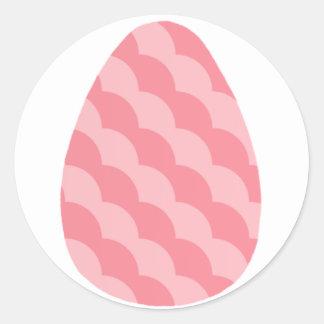 Pegatinas rosados ondulados del huevo de Pascua Pegatina Redonda