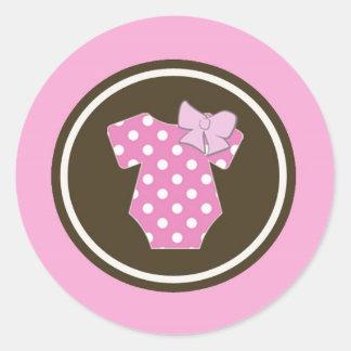 Pegatinas rosados - perfectos para el género etiqueta redonda