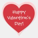 Pegatinas rosados rojos del corazón del el día de pegatina de corazón personalizadas