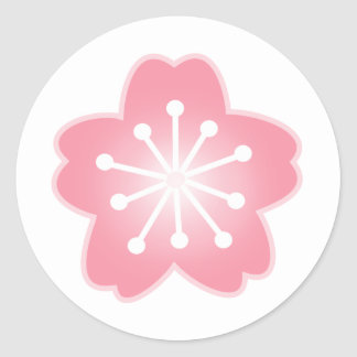 Pegatinas rosas claros del sobre de la flor de pegatina redonda