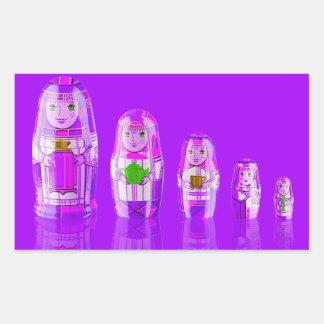 Pegatinas rusos púrpuras de las muñecas de rectangular altavoz