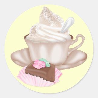 Pegatinas sabrosos - café + Chocolate