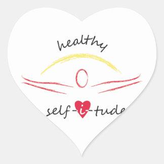 Pegatinas sanos de Selfitude Pegatina En Forma De Corazón