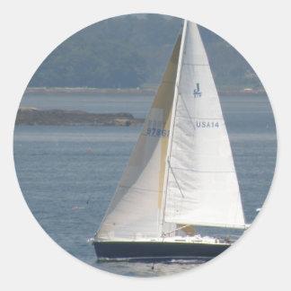 Pegatinas Seaward del velero Pegatina Redonda