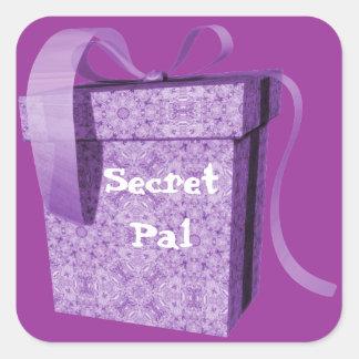 Pegatinas secretos de la etiqueta de PAL de regalo