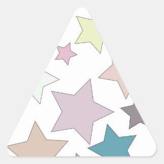 Pegatinas silenciados de los colores de las pegatina triangular
