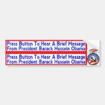 Pegatinas socialistas de Obama a aplicarse a los M Etiqueta De Parachoque