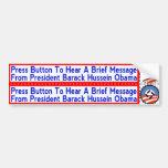 Pegatinas socialistas nacionales de Obama para los Etiqueta De Parachoque