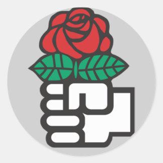 Pegatinas socialistas pegatina redonda