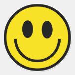 Pegatinas sonrientes de la cara pegatina redonda