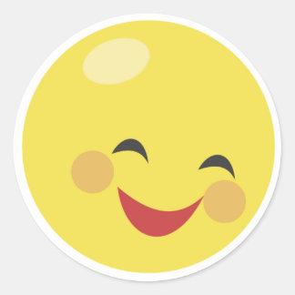 Pegatinas sonrientes lindos de la cara pegatina redonda