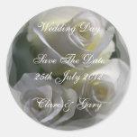 Pegatinas suaves de la fecha de día de boda de los