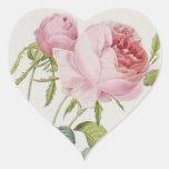 Pegatinas subiós vintage de la forma del corazón pegatina en forma de corazón
