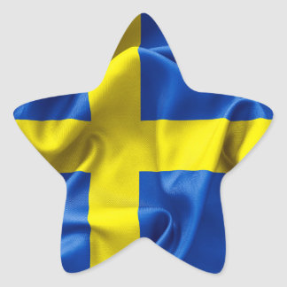 Pegatinas suecos de la estrella de la bandera pegatina en forma de estrella