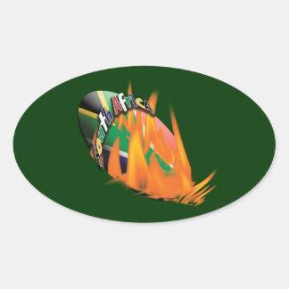 Pegatinas surafricanos de la fan de los colcomanias de óval