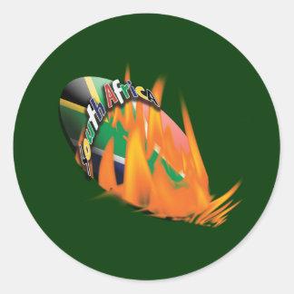 Pegatinas surafricanos de la fan de los pegatina redonda