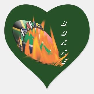 Pegatinas surafricanos de la fan de los calcomanías de corazones personalizadas