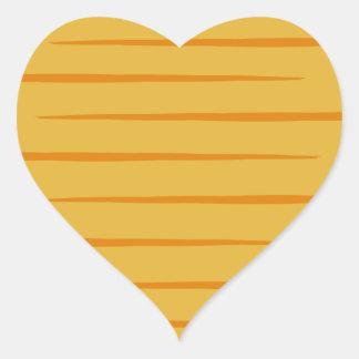 Pegatinas Tabby-Rayados del naranja en forma de Pegatina En Forma De Corazón