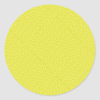 Pegatinas tejidos amarillo del modelo de la mirada pegatina redonda