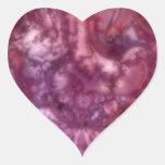 Pegatinas teñido anudados del caos calcomania de corazon