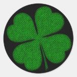 Pegatinas texturizados tela verde del diseño del t