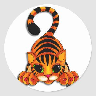 Pegatinas - Tiggy el tigre Etiqueta Redonda