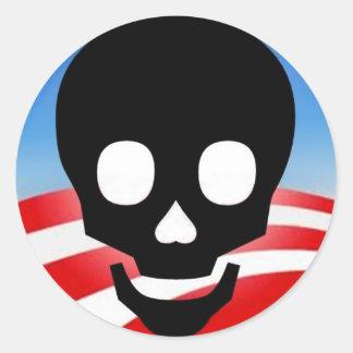 Pegatinas tóxicos de Obama Pegatina Redonda