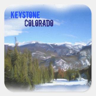Pegatinas trapezoidales de Colorado Pegatina Cuadrada