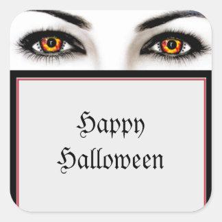 Pegatinas traviesos de Halloween de los ojos de la Calcomanía Cuadradas