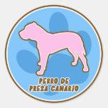 Pegatinas Trendy Perro de Presa Canario Pegatina Redonda